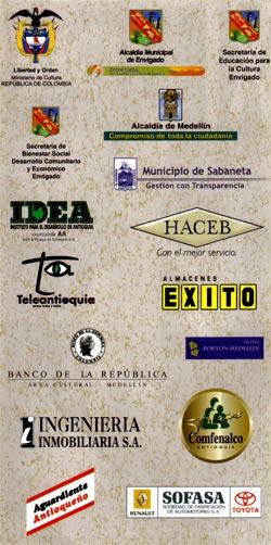 Patrocinios XI Encuentro Nacional del Tiple