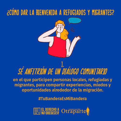 Pieza de difusión de la Toma Cultural y Artística por la Integración en América Latina