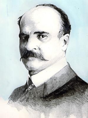 Tomás Carrasquilla (1858 - 1940) / Ilustración © Daniel Gómez Henao