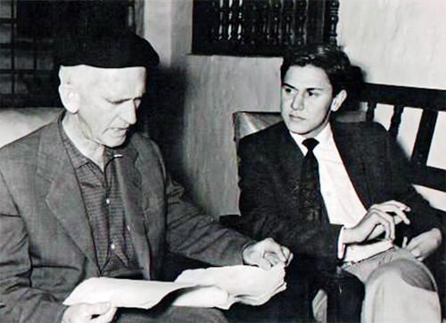Fernando González y Alberto Escobar Ángel, cofundador del Nadaísmo