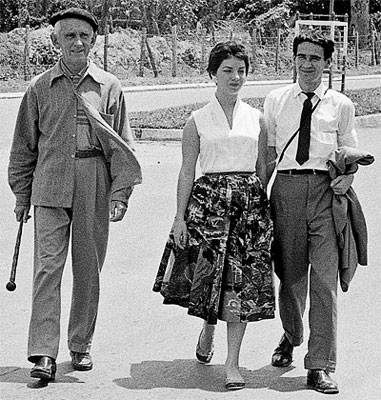 Fernando González, Morelia Angulo y Gonzalo Arango - Fotografía © Guillermo Angulo (1958)