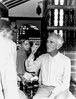 Fernando González con su nieto Lucas González