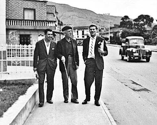 León Acevedo, Fernando González y Alfredo Vanegas Montoya.