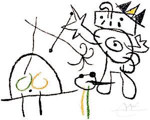 """""""Ubu Roi aux Baleares"""" (c.1966) - Por Joan Miró"""