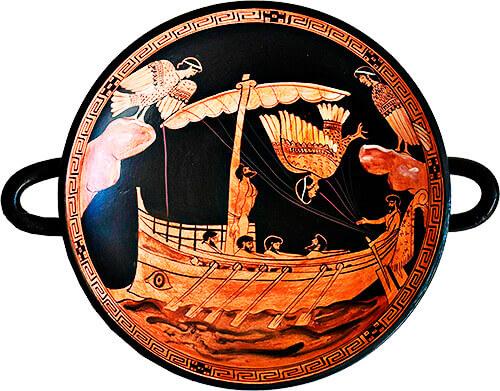 Ulises resiste el canto de las sirenas