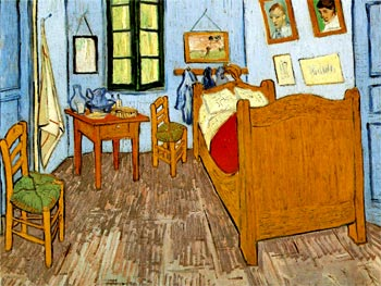 La habitación de Vincent en Arlés (1888, Museo Vincent van Gogh)