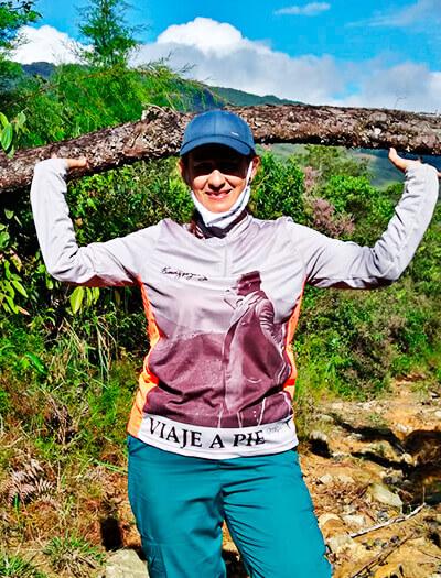 Ángela María Palacio, participante del proyecto «Lectura del Viaje a pie desde el camino» 2021