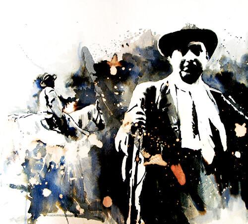Don Benjamín Correa - Ilustración © Daniel Gómez Henao