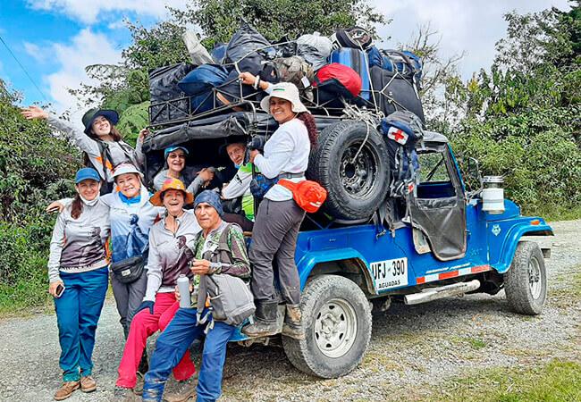 Participantes del proyecto «Lectura del Viaje a pie desde el camino» 2021