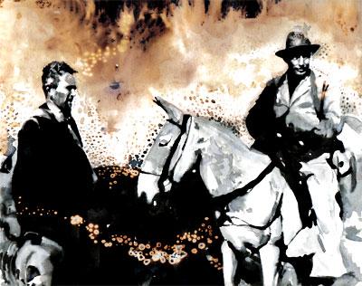 Fernando González y Benjamín Correa - Ilustración por Daniel Gómez Henao