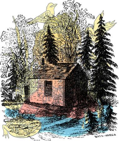 «Walden», la cabaña donde vivió Henry David Thoreau entre 1845 y 1847