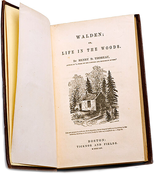 Primera edición de «Walden» de Henry D. Thoreau (1817–1862) / The Morgan Library & Museum