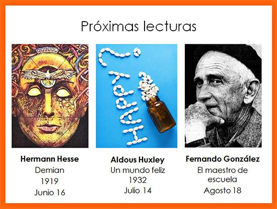 Próximas lecturas del Grupo de Lectura «Yo leo» - Junio 16 - Agosto 18 de 2020